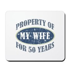 Funny 50th Anniversary Mousepad