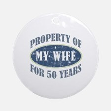 Funny 50th Anniversary Ornament (Round)