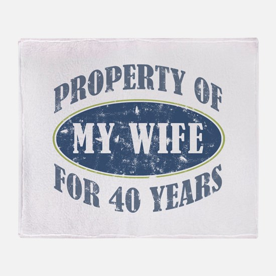 Funny 40th Anniversary Throw Blanket