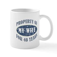 Funny 40th Anniversary Mug