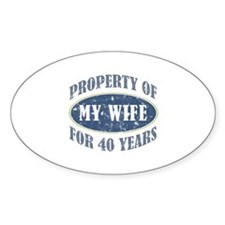 Funny 40th Anniversary Decal