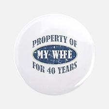 """Funny 40th Anniversary 3.5"""" Button"""
