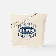 Funny 40th Anniversary Tote Bag