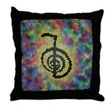 Cho Ku Rei Stained Glass Throw Pillow