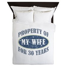 Funny 30th Anniversary Queen Duvet