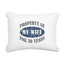 Funny 30th Anniversary Rectangular Canvas Pillow