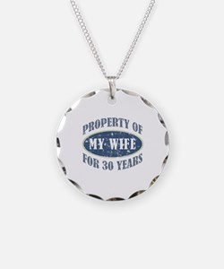 Funny 30th Anniversary Necklace