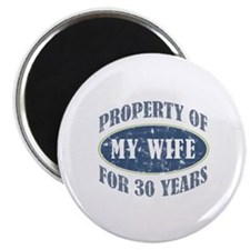 """Funny 30th Anniversary 2.25"""" Magnet (100 pack)"""