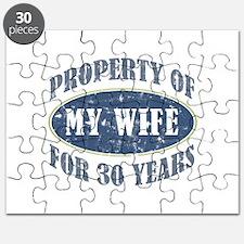 Funny 30th Anniversary Puzzle