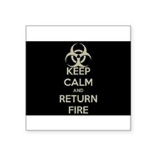 Keep Calm and Return Fire Sticker