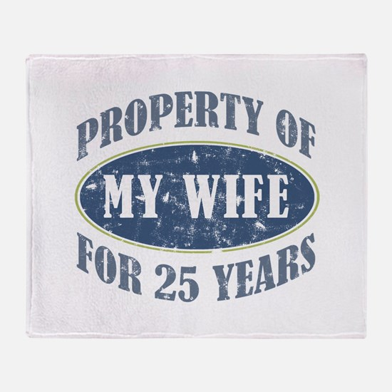 Funny 25th Anniversary Throw Blanket