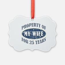 Funny 25th Anniversary Ornament