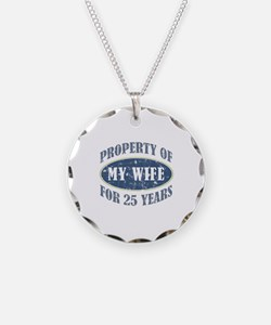 Funny 25th Anniversary Necklace