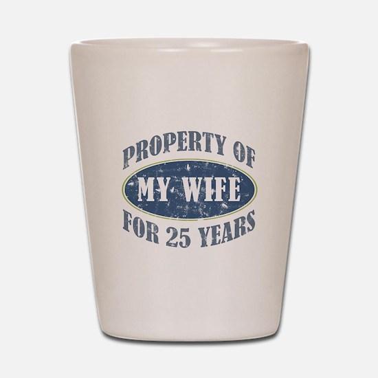 Funny 25th Anniversary Shot Glass
