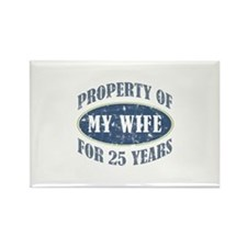 Funny 25th Anniversary Rectangle Magnet