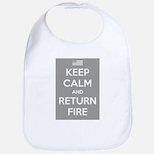 Keep Calm and Return Fire Bib