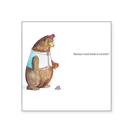"Barney the Bear Square Sticker 3"" x 3"""
