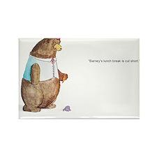 Barney the Bear Rectangle Magnet