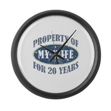 Funny 20th Anniversary Large Wall Clock