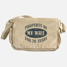 Funny 20th Anniversary Messenger Bag