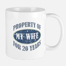 Funny 20th Anniversary Small Mugs