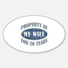 Funny 20th Anniversary Decal