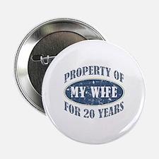 """Funny 20th Anniversary 2.25"""" Button"""