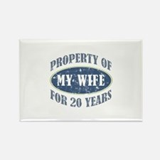 Funny 20th Anniversary Rectangle Magnet (100 pack)