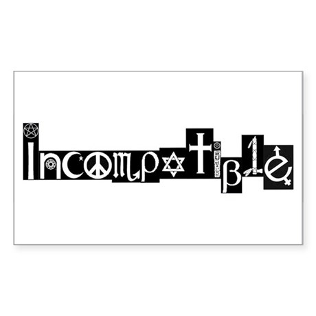 Incompatible Reality Sticker (Rectangle)