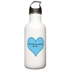 AUTISM has touched my life. Water Bottle