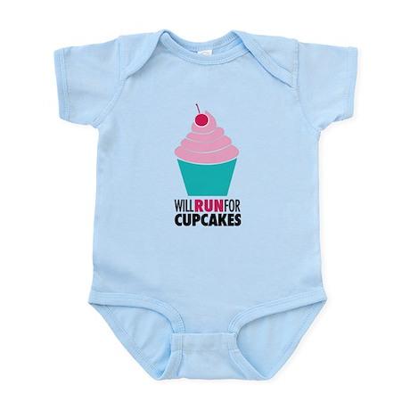 Cupcake RUnner Infant Bodysuit