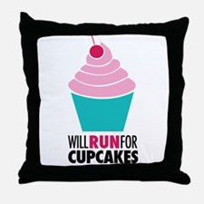 Cupcake RUnner Throw Pillow