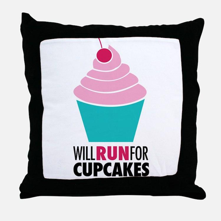 Cupcake RUnner Throw Pillow