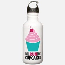 Cupcake RUnner Water Bottle