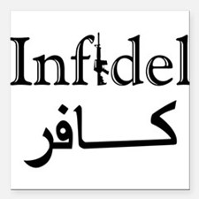 "Infidel Square Car Magnet 3"" x 3"""