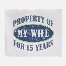 Funny 15th Anniversary Throw Blanket