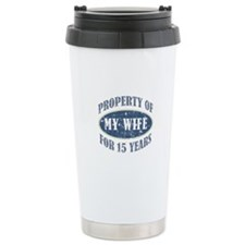 Funny 15th Anniversary Travel Mug