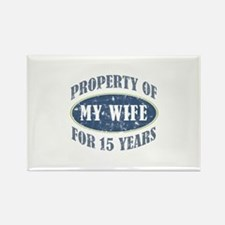 Funny 15th Anniversary Rectangle Magnet