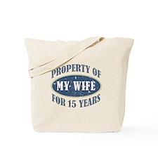 Funny 15th Anniversary Tote Bag