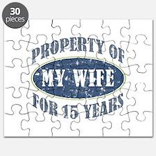 Funny 15th Anniversary Puzzle