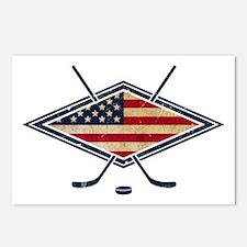USA Hockey Flag Logo Postcards (Package of 8)
