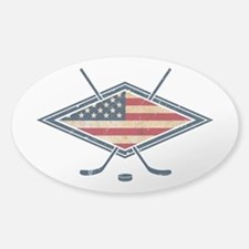 USA Hockey Flag Logo Decal