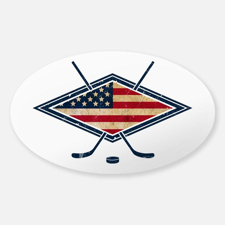 USA Hockey Flag Logo Decal