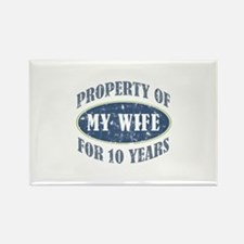 Funny 10th Anniversary Rectangle Magnet