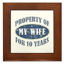 Funny 10th Anniversary Framed Tile