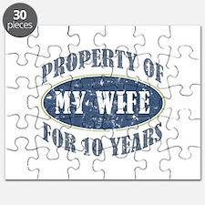 Funny 10th Anniversary Puzzle