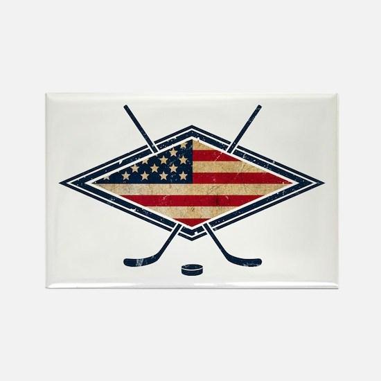 USA Hockey Flag Logo Rectangle Magnet