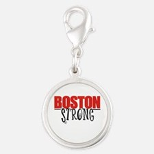 Boston Strong Silver Round Charm