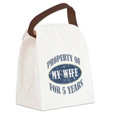 Funny 5th Anniversary Canvas Lunch Bag