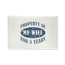 Funny 5th Anniversary Rectangle Magnet